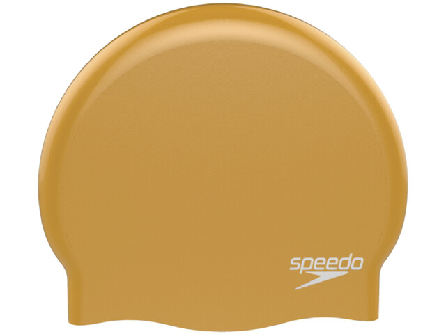 speedo Plain Moulded Silicone Cap yellow